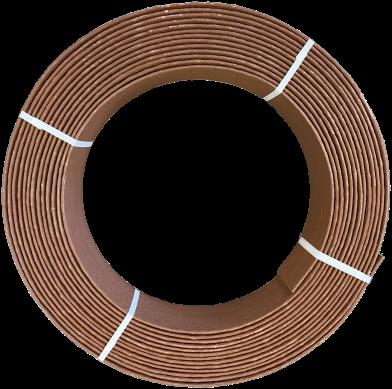 Ekoboard randafwerking 19 cm x 15 meter - Bruin Cortenstaal