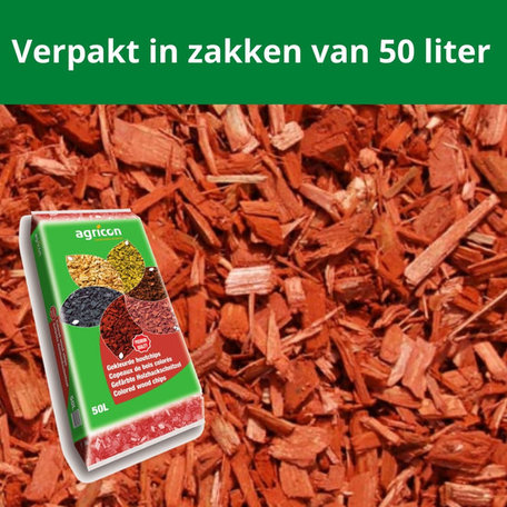 Houtsnippers Rood 500 liter