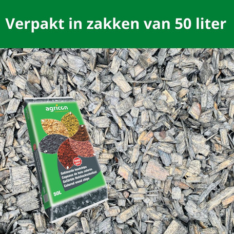 Houtsnippers Ardoise ( grijs/zwart) 1000 liter